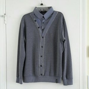 Shirt with sweater, size L